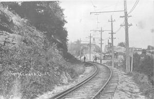 F19/ Newark Ohio RPPC Postcard 1970s? REPRINT Railroad Men Factory 4
