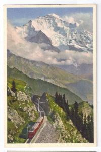 Schynige Platte Bahn mit Jungrau Switzerland Alps 1967