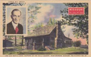 Harold Bell Wright & Old Matt's Cabin, Shepherd of the Hills Country, Branson...