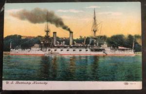 Mint USA Color Picture Postcard USS Kentucky BattleShip BB 6