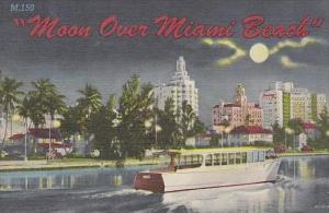 Florida Miami Beach Moon Over Miami Beach