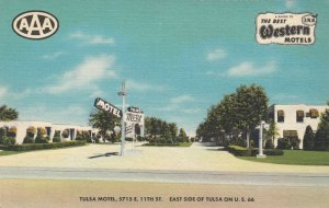 TULSA , Oklahoma, 1930-40s ; RT 66 ; Tulsa Motel
