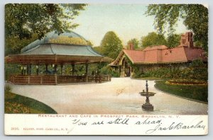 Brooklyn New York City~Prospect Park~French Open Air Restaurant & Cafe~1906