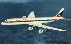 Delta Airlines Douglas DC-8 Fanjet - (Airline Issued)