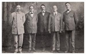 8530  NH Claremont   photo of 5 letter Carriers, Postmen