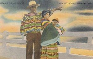 Watching a MIAMI Sunrise , Musa Isle Seminole Indian Village , 30-40s