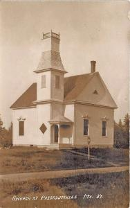 Passadumkeag ME Dirt Street Church Eastern Illustrating RPPC Postcard