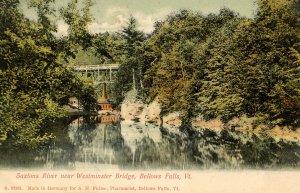 VT - Bellows Falls. Saxtons River near Westminster Bridge