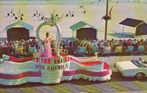 Viewing The Miss America Pageant Parade On The Boardwalk At Atlantic City New...