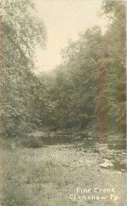 Glenshaw Pennsylvania Pine Creek RPPC Photo Postcard 21-8155