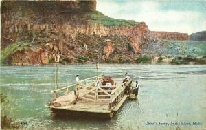 Gray's News Glenn's Ferry Snake River Idaho 1911 Postcard 2704