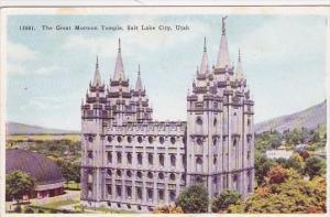 Utah Salt Lake City The Great Mormon Temple 1937