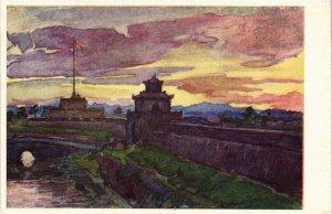 CPA AK HUÉ - Les Remparts Cavalier du Roi. VIETNAM-Indochine (762224)