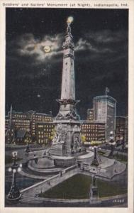 Indiana Indianapolis Soldiers & Sailors Monument At Night