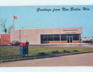 Pre-1980 OLD CAR AT POST OFFICE New Berlin - Near Waukesha & Milwaukee WI d8548