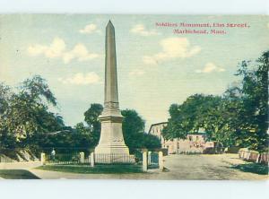 Divided-Back MONUMENT Marblehead Massachusetts MA HJ8168