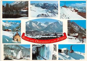 Rund um Oberstdorf Allgaeu Pension Mountains Cable Car Winter Chapel