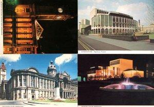 Birmingham Council House at Night Theatre 4x Postcard s