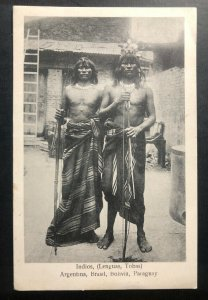 Mint Argentina Real Picture Postcard RPPC Lenguas Tobas Indian South America