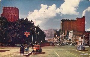 1965 Ogden Utah Railway Center auto Conoco Roberts postcard 1819