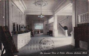 Interior view of Public Library, Jackson, Michigan, PU-1910