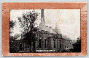 Freeport Illinois~Water Works~Tall Smoke Stack~c1910 Brown Border
