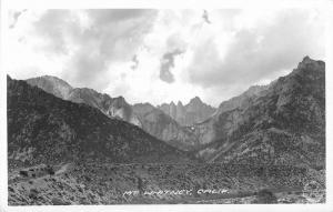 1940s Inyo Frasher Mt Whitney California RPPC real photo postcard 1937