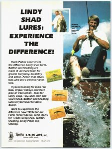 Lindy Shad Lures Old Fishing Lure Ad F1