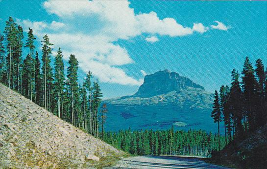 Canada Alberta An Imposing View Of Chief Mountain Waterton Lake National Park...