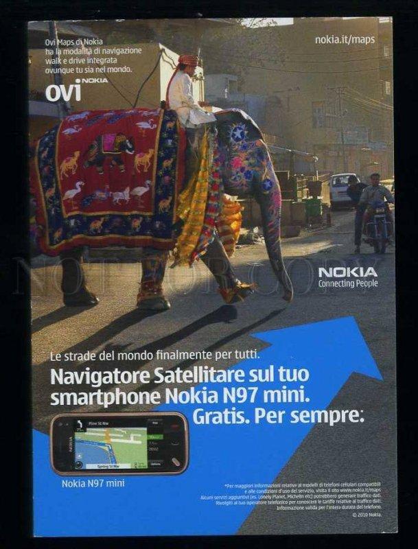 209534 ITALY ADVERTISING NOKIA N97 mini elephant