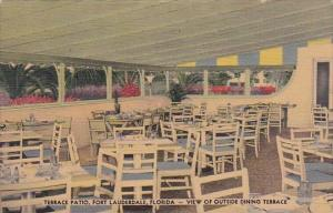 Florida Fort  Lauderdale Terrace Patio Restaurant View Of Outside Dining Terr...