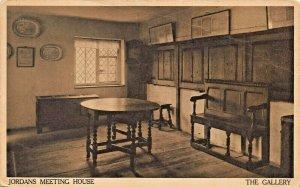 BEACONSFIELD  ENGLAND~JORDANS QUAKER MEETING HOUSE-THE GALLERY-PHOTO POSTCARD