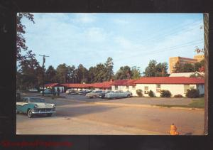 DURHAM NORTH CAROLINA EL RANCHO MOTEL 1950's CARS ADVERTISING POSTCARD NC