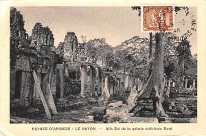 Ruines D'Angkor Cambodia, Cambodge Le Bayon, Aile Est de la galerie exterieur...