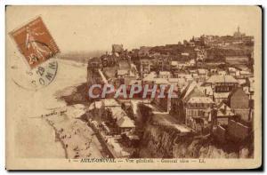Old Postcard Ault Onival Vue Generale