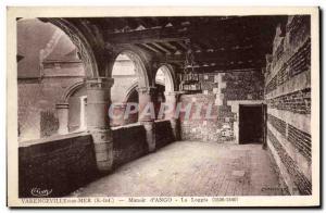 Old Postcard Varengeville sur Mer Manoir d & # 39Ango La Loggia