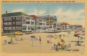OCEAN CITY, Maryland, PU-1949; Mayflower & Stephen Decatur-McCabe Apts, Hotel