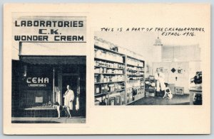 San Diego CA~CK Wonder Cream Laboratories Inside & Out~Carl Knapp & Dog~1946 B&W