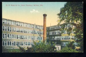 Wilton, Maine/ME Postcard, G.H. Bass & Co. Shoe Factory