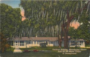 Moosehaven Florida~Keystone Building~Built By Moose Lodges Of PA~1940s Postcard