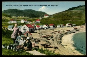 Little Fox River, Gaspe, Quebec. Posted from Perce, 1935. Children on bluff