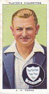 Player Vintage Cigarette Card Cricketers 1938 No 18 H Parks Sussex & England