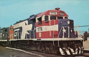 Grand Trunk Western GP38 Locomotive 1776 At Royal Oak Michigan 13 December 1975