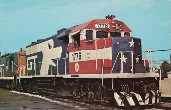 Grand Trunk Western GP38 Locomotive 1776 At Royal Oak Michigan 13 December 1975