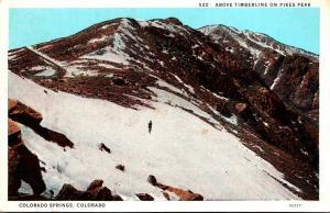 Colorado Colorado Springs Above Timberline On Pikes Peak Curteich