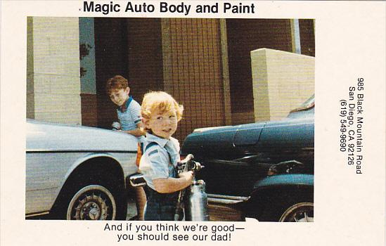 Advertising Magic Auto Body and Paint San Diego California