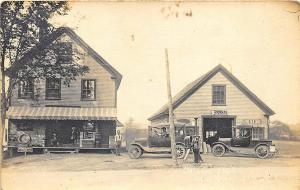 Readfield Depot ME Child's Store Gas Pumps Old Cars RPPC Postcard