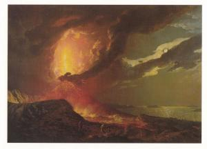 Joseph Wright Of Derby Vesuvias In Eruption Bay Of Naples Painting Postcard