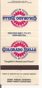 Matchbook Cover ! Colorado Belle, Laughlin, Nevada !