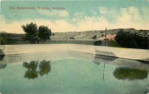 1934 Natatorium Nogales Arizona Postcard International Drug 3723